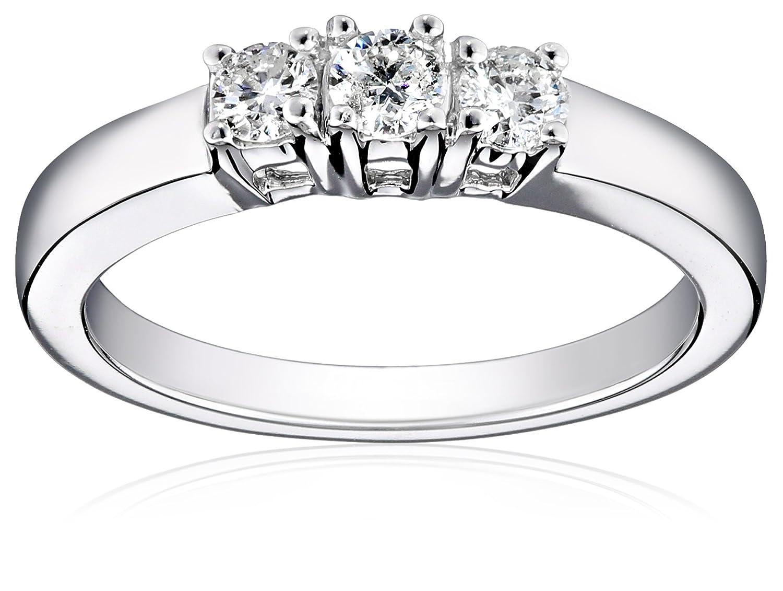 14k white gold 3 stone diamond ring 12 cttw i j color i1 i2 14k white gold
