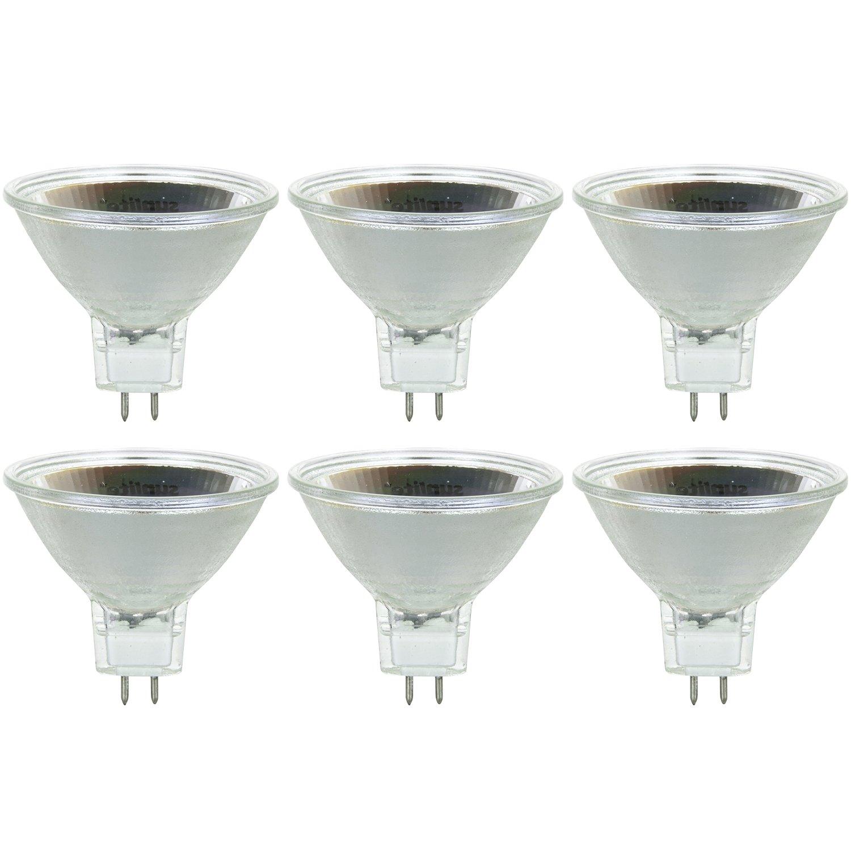 6 Pack Sunlite 75MR16//NSP//12V//6PK Halogen 75W 12V MR16 Narrow Spot Light Bulbs