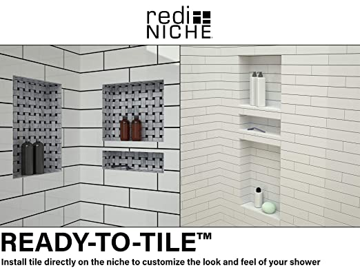 Tile Redi RNQH1620DU-20DU Quadruple Niche Set Recessed Shower Shelves