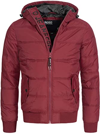 INDICODE Hombre Chaquetas con capucha De Abrigo De Invierno Chaqueta Acolchada Jacket Mens Coat Adrian 5061 Negro Azul Gris Naranja SML XL XXL