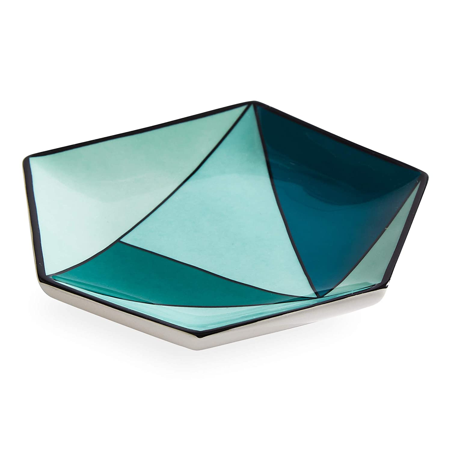 Now House by Jonathan Adler Facet Small Decorative Tray, Green