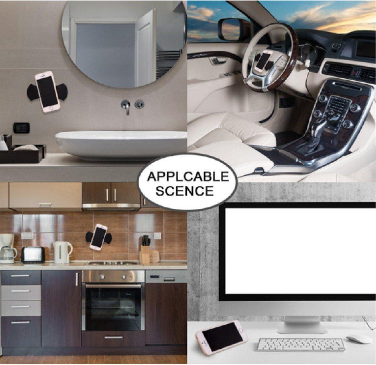 tel/éfonos//GPS//iPad//armarios de Cocina o azulejo Negro Almohadillas de Gel pegajosas de Soporte para tel/éfono 4 Piezas Tekemai Almohadillas de Gel de Fijaciones Almohadillas Antideslizantes