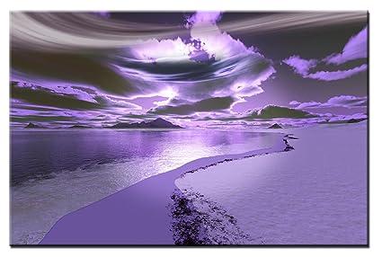 Pareti Viola E Lilla : Lynxart santacruz pannello artistico da parete grigio viola