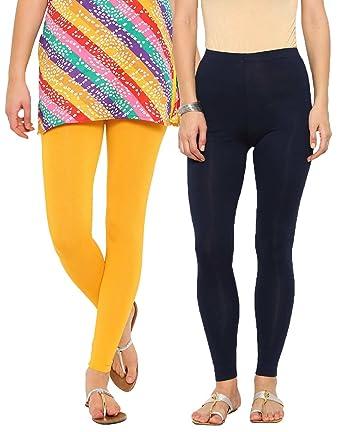 3ebfef4885c19 De Moza Ladies Cotton Ankle Legging Pack of 2: Amazon.in: Clothing &  Accessories