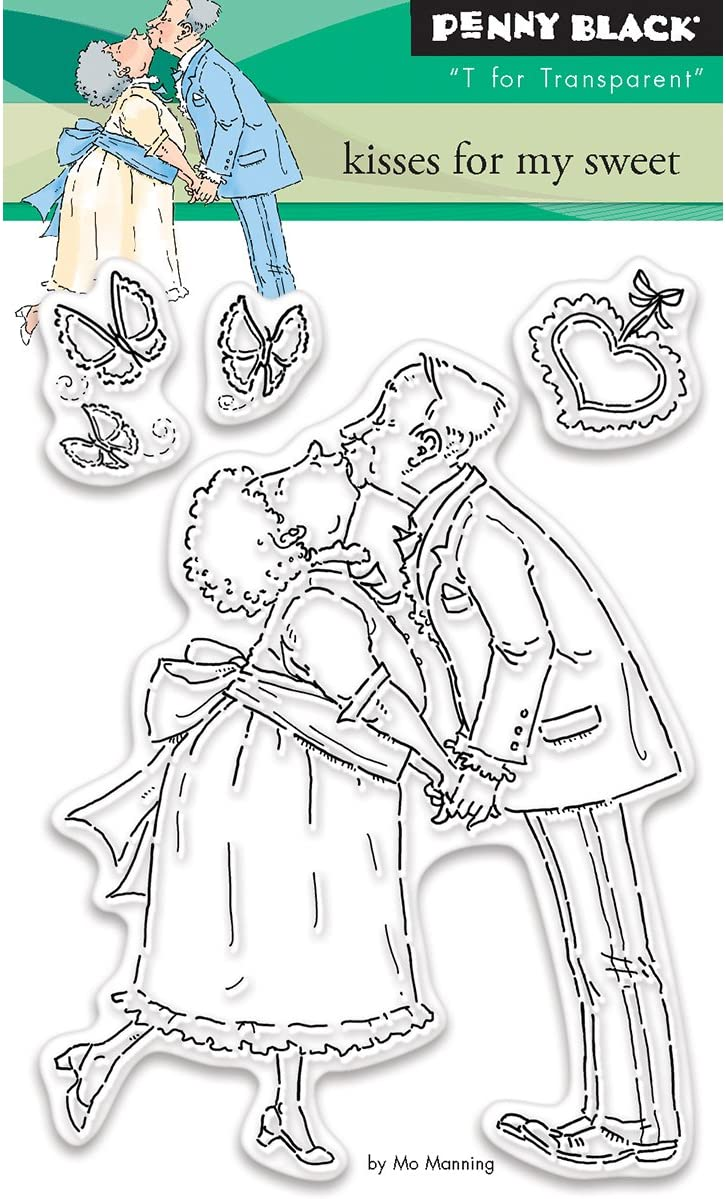 Penny Black Kisses for My Sweet Clear Stamps 3x4
