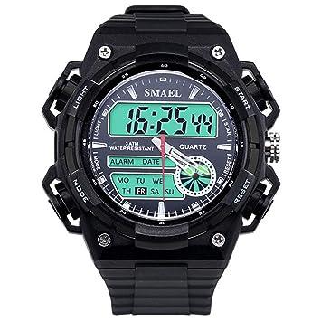 Blisfille Reloj de Lujo Hombre Reloj Negro Mujer Reloj para Agua Reloj Acero Hombre Automatico Reloj Digital Oro: Amazon.es: Deportes y aire libre