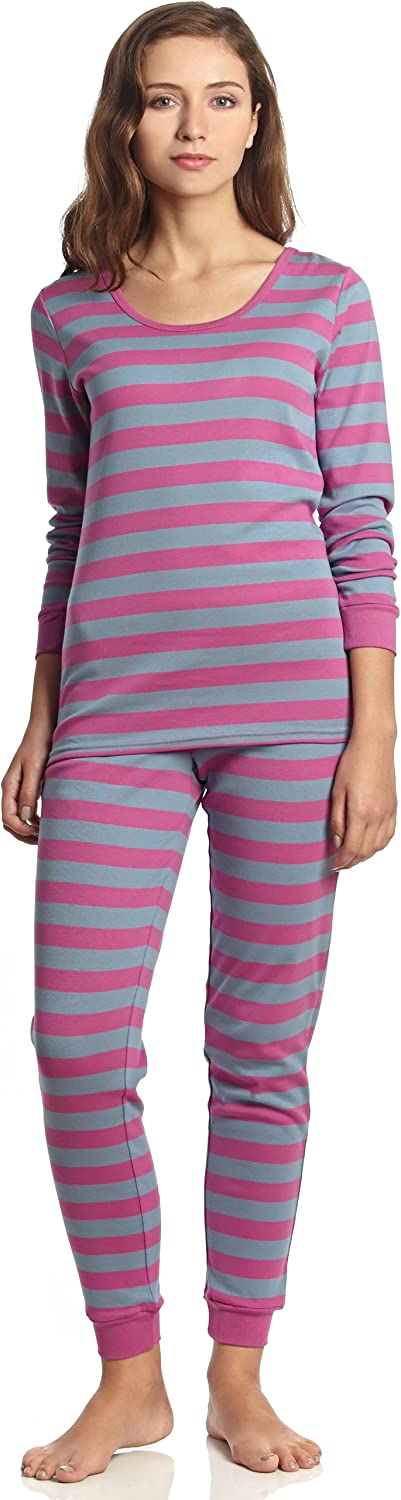 """Leveret Women's""""Fitted Striped"""" Pajama 100% Cotton (XS-XL)"""