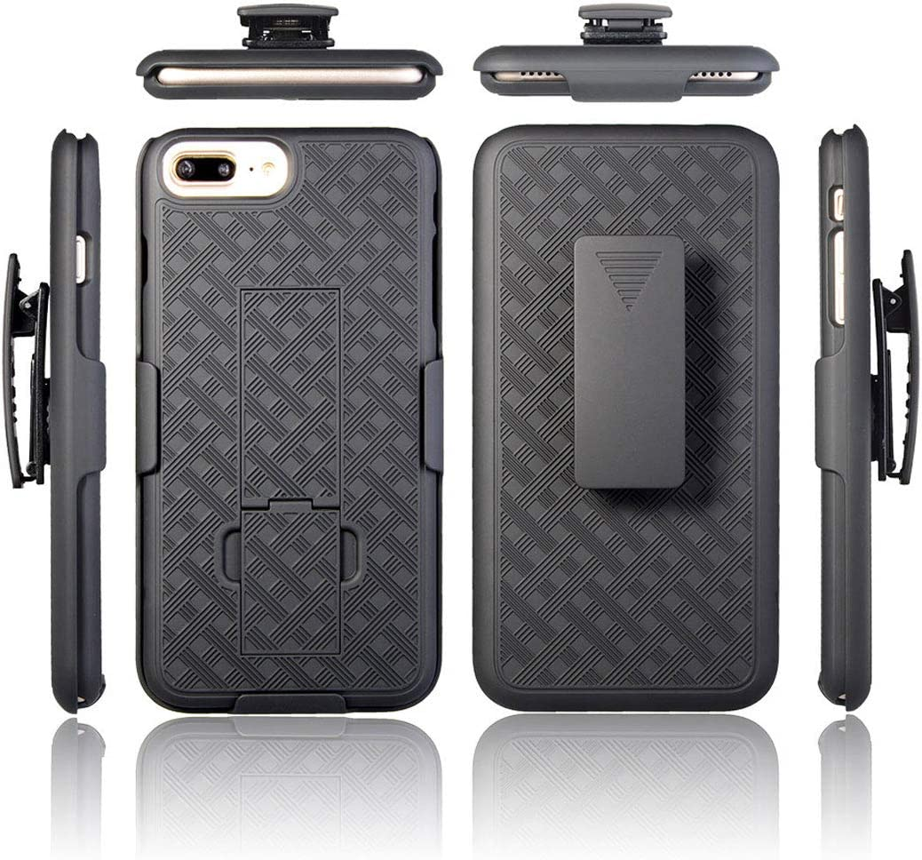 iPhone 6s Holster Case with Belt Clip and Kickstand - Protective Heavy Duty iPhone 6 / iPhone 6s Case with Holster - Black
