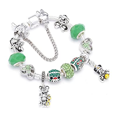Amazon com: HUANGH A Variety Of Design Charm Bracelet WithEnamel