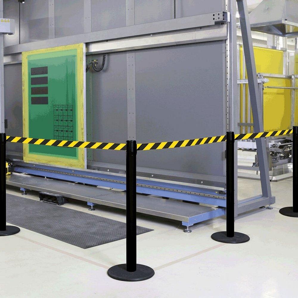 gelb//schwarz schraffiert innen 4 m aus Kunststoff schwarz RS-GUIDESYSTEMS GLA-28-J//17-4,0 Gurtpfosten