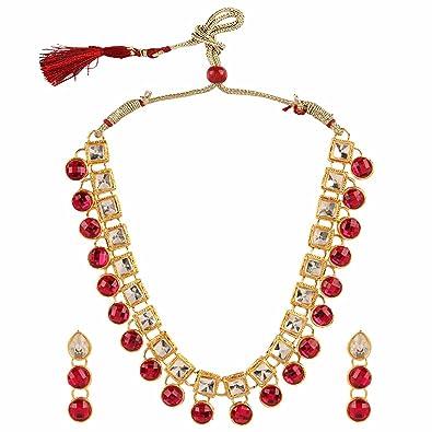 d8f433d5bcdcb Amazon.com: Efulgenz Indian Bollywood Traditional Pink Rhinestone ...