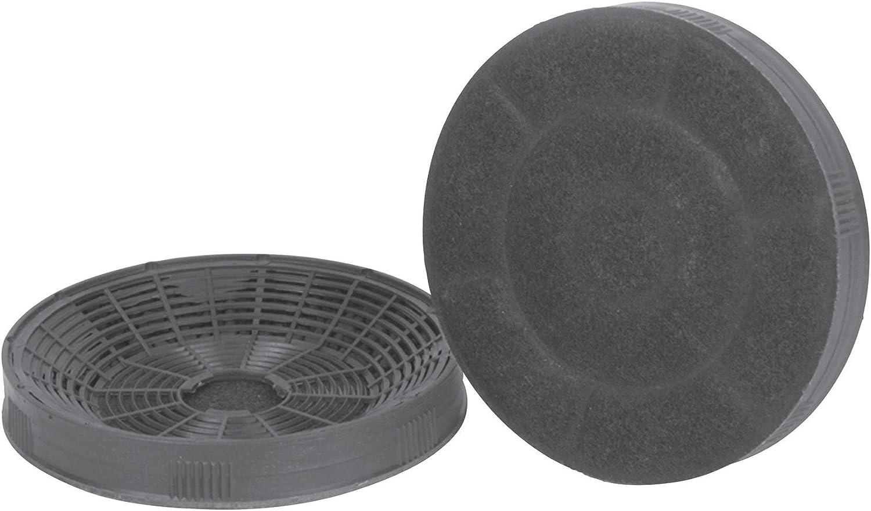 Silverline AF 100, filtro de carbón activo (1 par), accesorio para campana extractora de humos, filtro