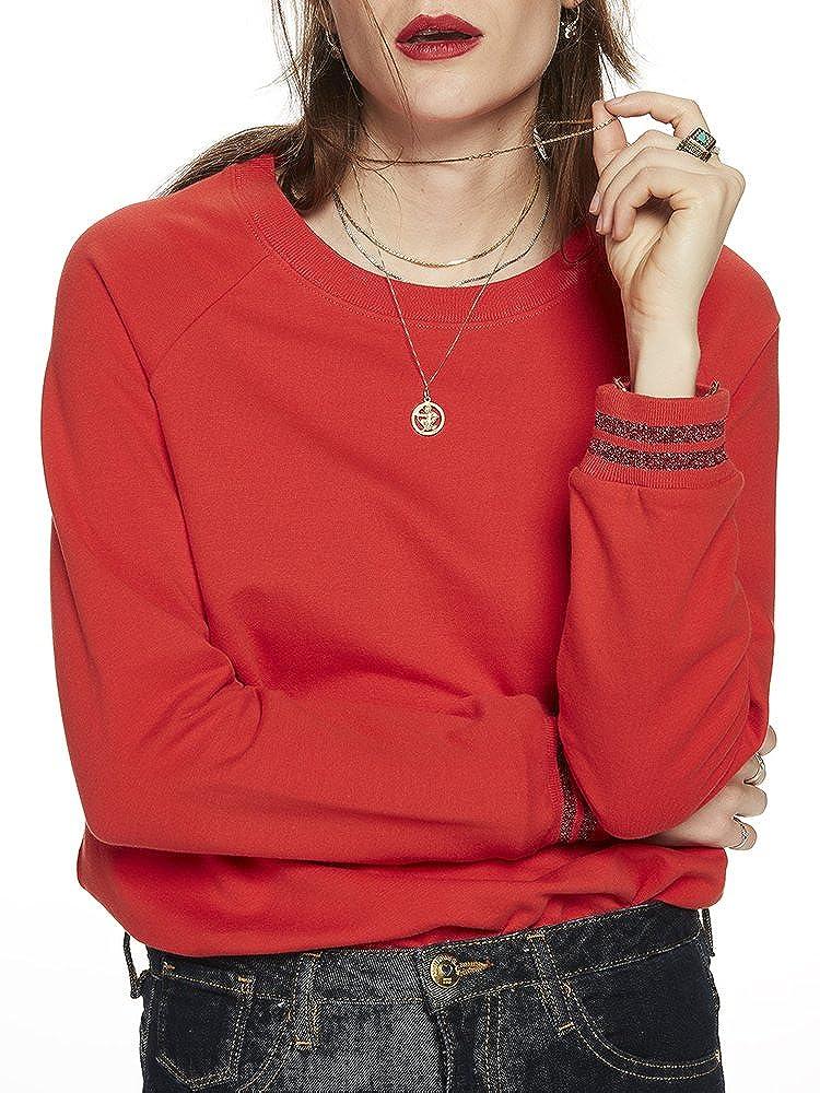 TALLA S. Scotch & Soda Woven Back Sweater Sudadera para Mujer