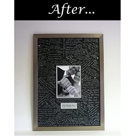 Wedding Guest Book Signing Frame Contemporary Alternative To The