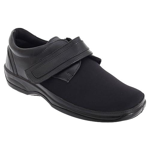 398a62262de8a Mod Comfys - Zapatos cómodos elásticos de ancho especial para mujer   Amazon.es  Zapatos y complementos