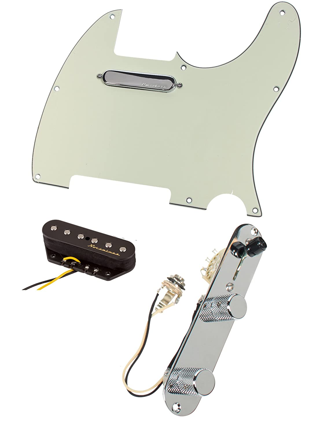 Fender Vintage Noiseless Pickups Wiring Diagram 47 Noise Less Further Gibson P 90 Pickup Sl1500 Amazon Com Tele Telecaster Loaded Pre Wired Pickguard