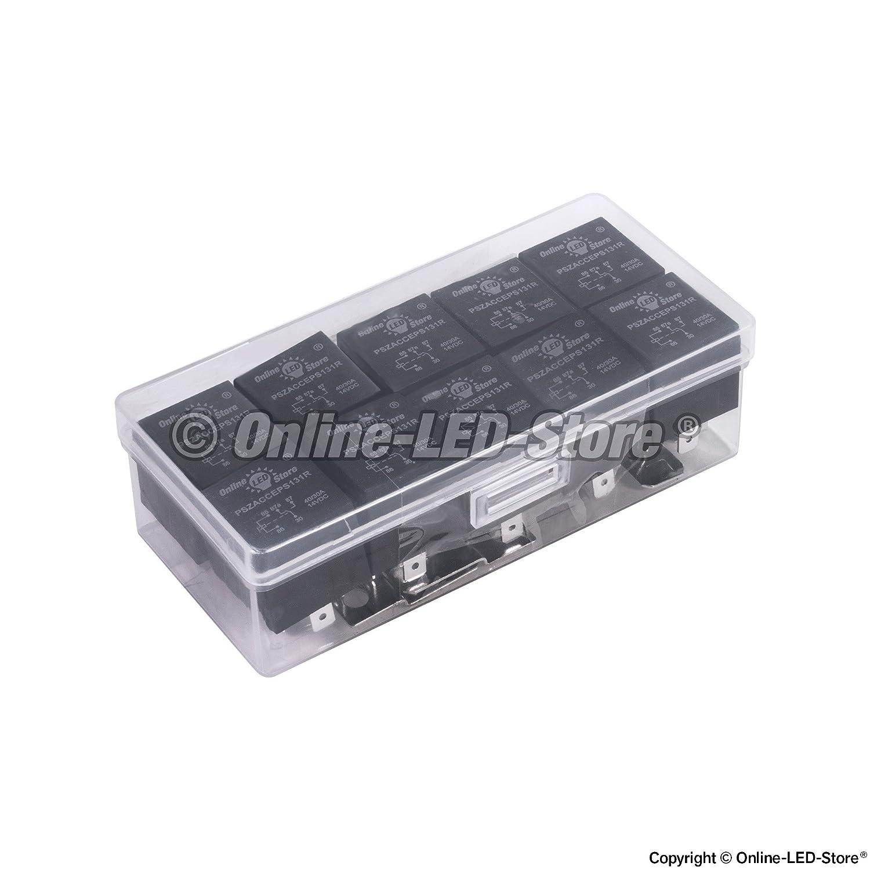 Amazon.com: ONLINE LED STORE 10 Pack - 12V 30/40 Amp 5-Pin SPDT ...