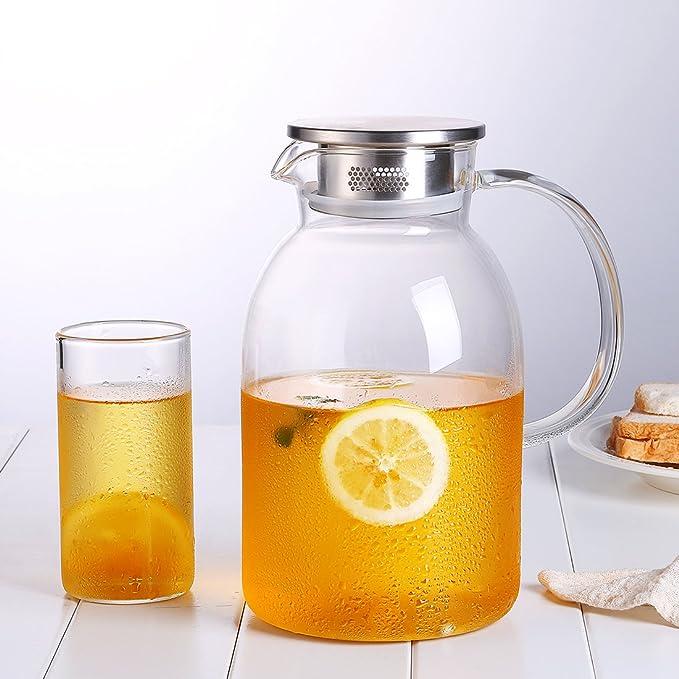 Amazon.com: oneisall jarra de vidrio resistente al calor ...
