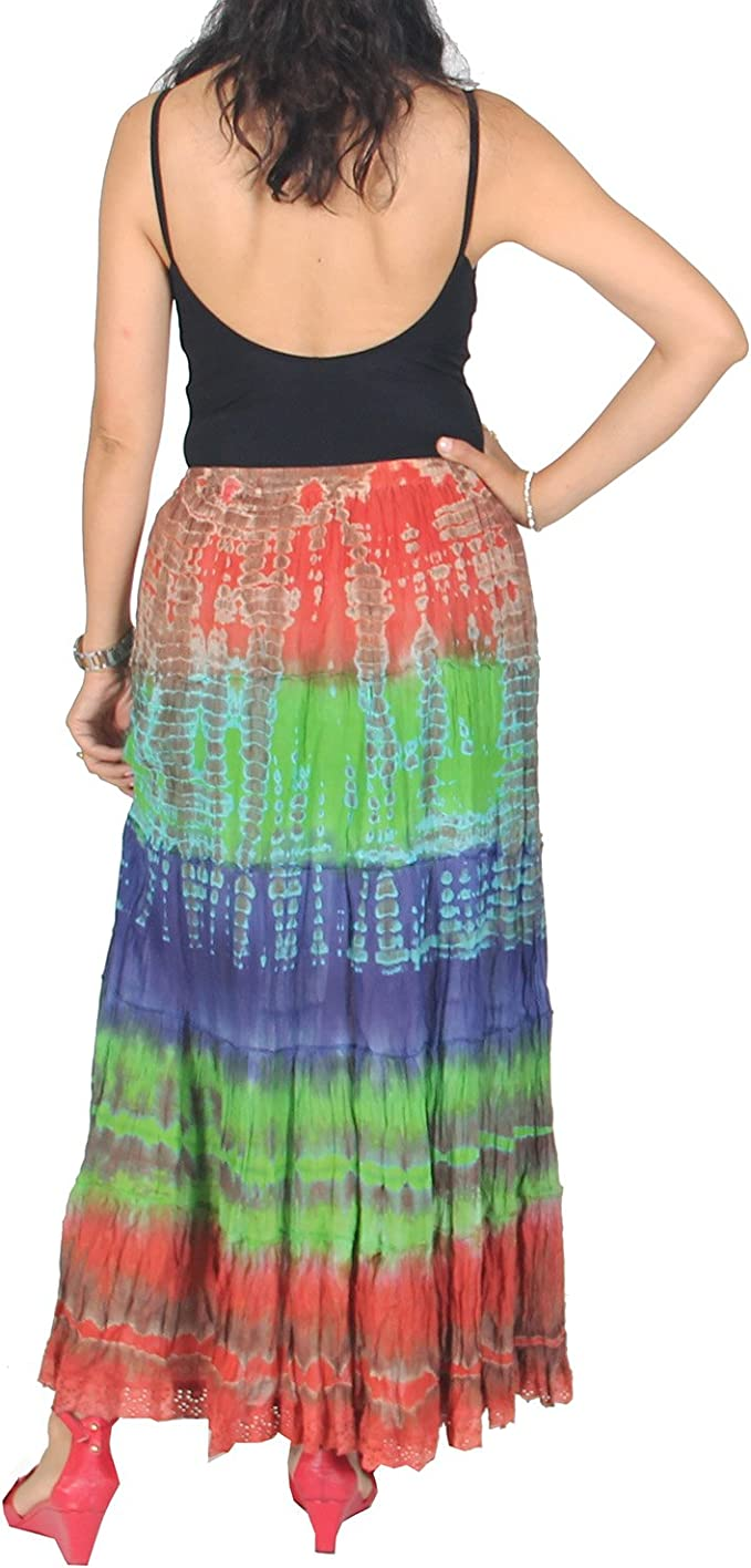 Nice summer skirts Long bohemian skirt long bohemian tie dye skirt in 2 colors pink Gypsy tie dye skirt Maxi skirts. green and blue