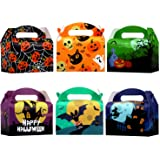 VEYLIN 24Pack Halloween Treat Paper Boxes, Colorful Candy Tote Paper Boxes for Halloween Party Favors