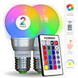 Kobra LED Color Changing Light Bulb with Remote Control - 16 Different Color Choices Smooth, Fade, Flash or Strobe Mode - Sma