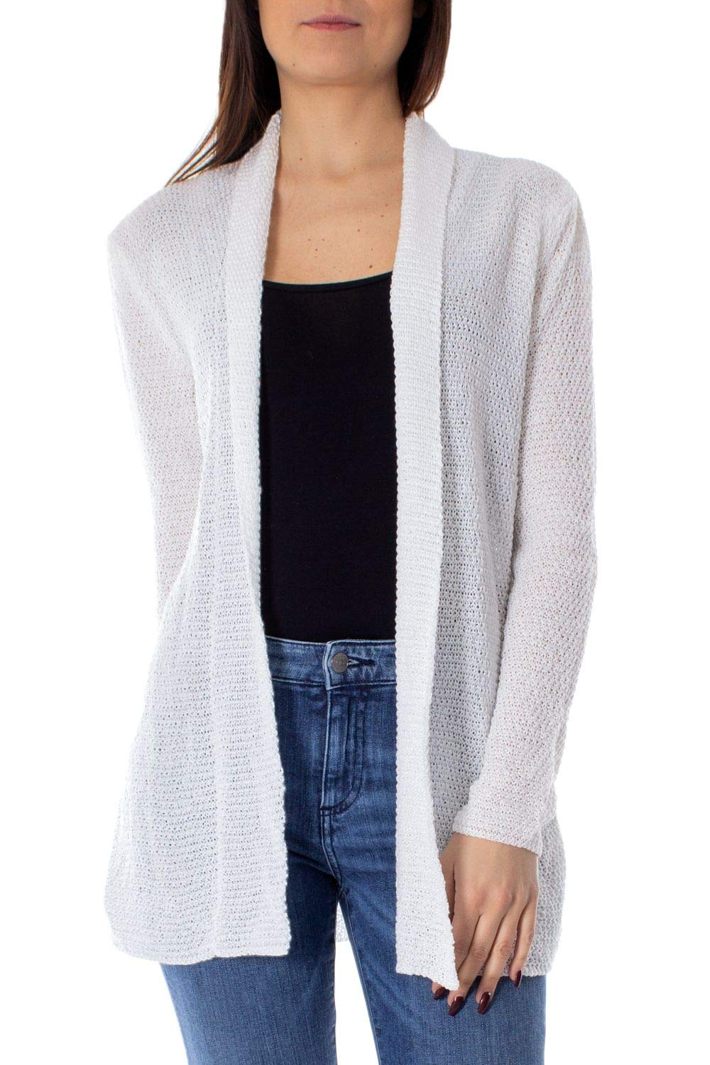 One.0 Women's OZ17WHITE White Acrylic Cardigan