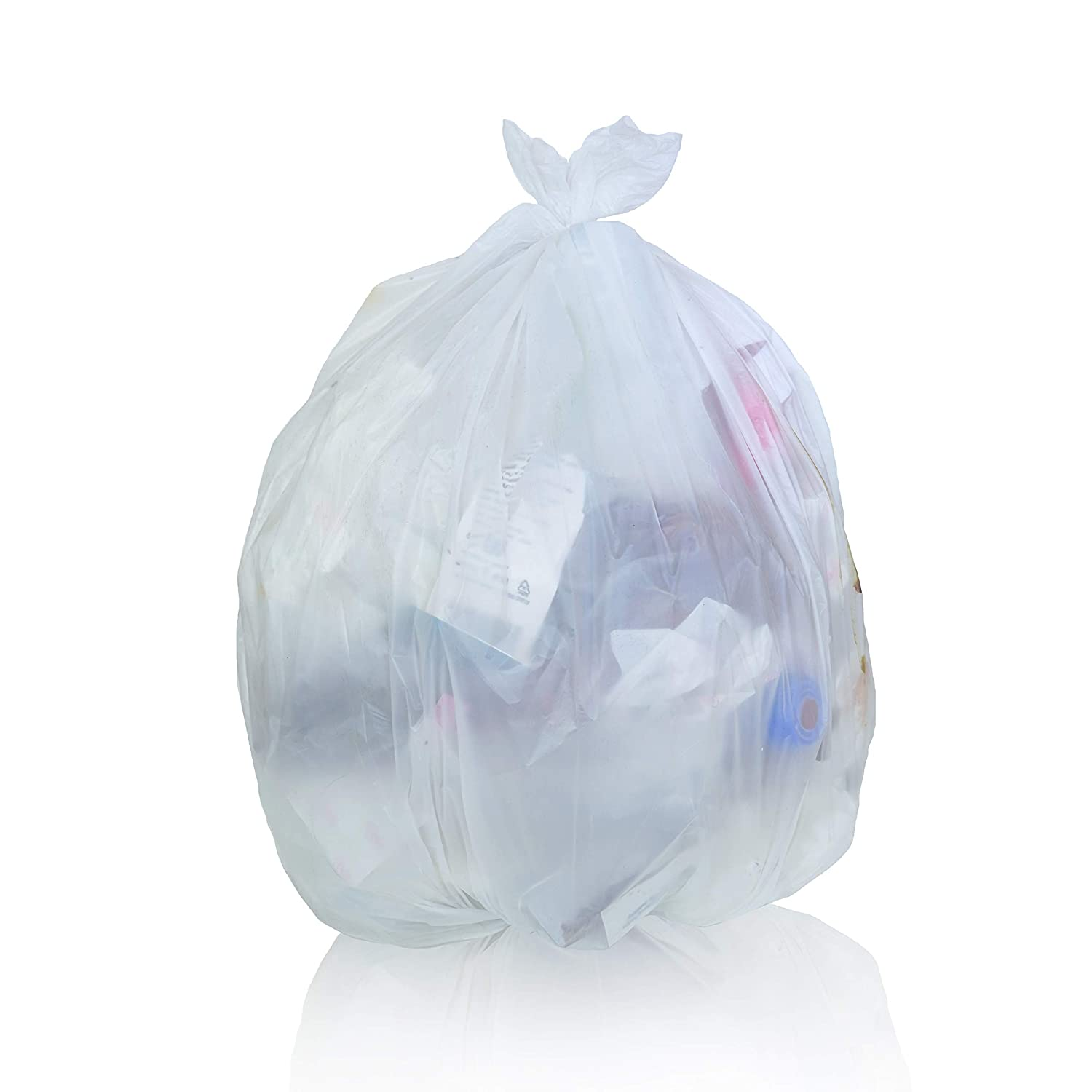 Toughbag Clear Trash Bags, 65 Gallon Garbage Bags (50) Toughbag Products
