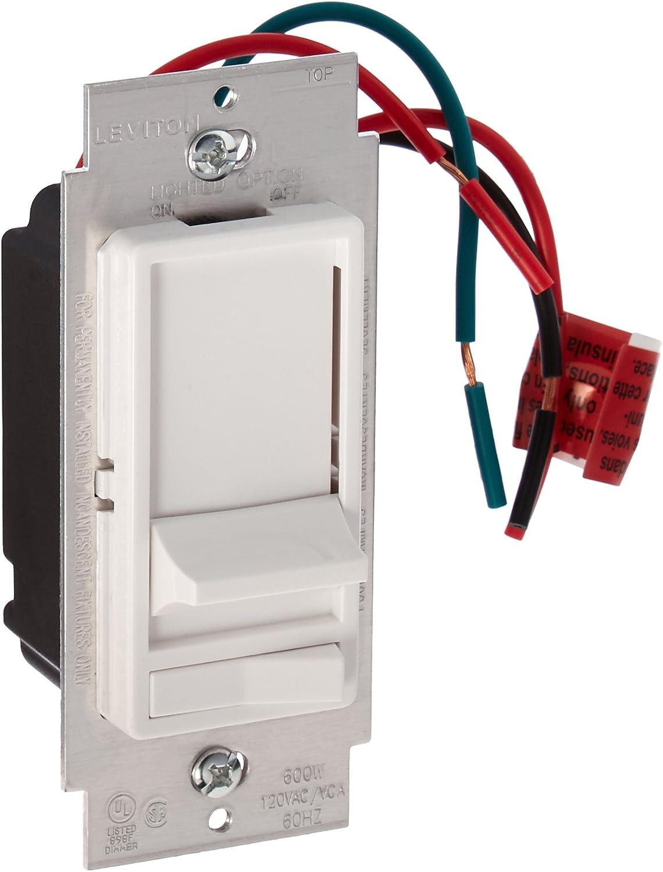 [SCHEMATICS_48DE]  Leviton 6633-PLW Decora 3-Way Slide Dimmer with Preset Lighted Pad Option,  White - Wall Dimmer Switches - Amazon.com | Leviton Dimmer Switch Wiring Diagram |  | Amazon.com