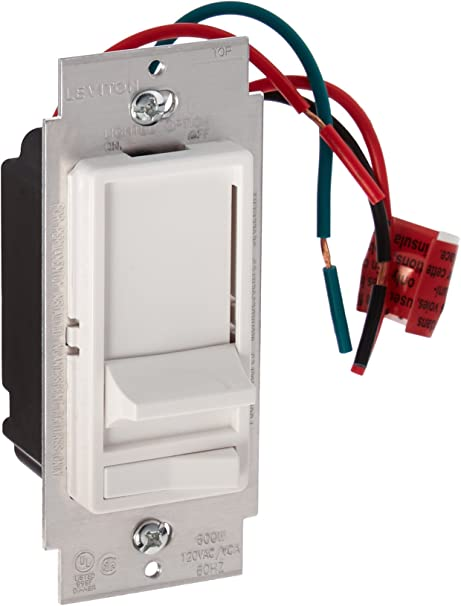 [DIAGRAM_3ER]  Leviton 6633-PLW Decora 3-Way Slide Dimmer with Preset Lighted Pad Option,  White - Wall Dimmer Switches - Amazon.com | Leviton 6633 P Wiring Diagram |  | Amazon.com