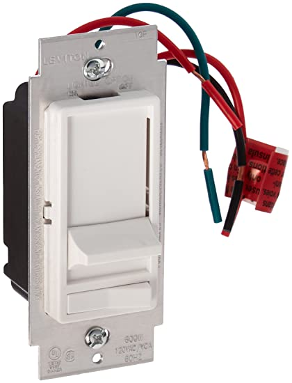 leviton 6633 plw decora 3 way slide dimmer with preset lighted pad rh amazon com  leviton sureslide 6633-p wiring diagram