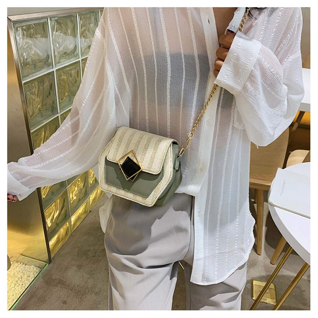Color : Green, Size : 18.515.58cm OUSHINA Fashion Summer Small Fresh Air Messenger Bag Wild Ins Tide Wild Net Red Small Bag