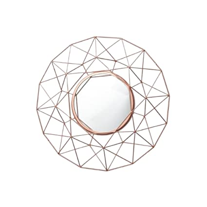 Cherish Home Rose Gold Geometric Round Contemporary Modern Wire Wall