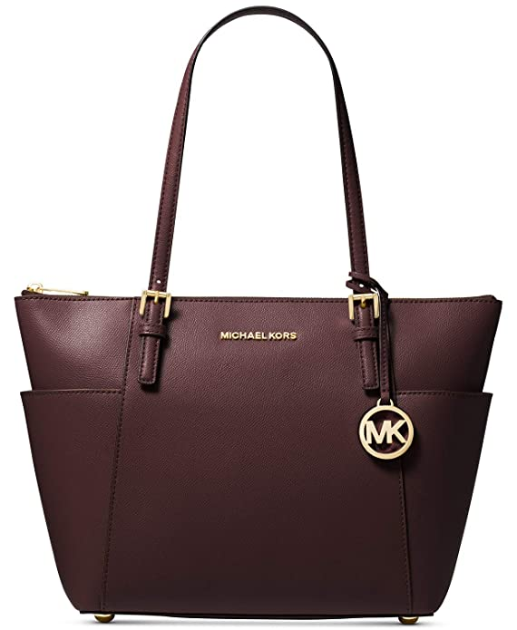 MICHAEL Michael Kors Jet Set Top-Zip Tote (Barolo)