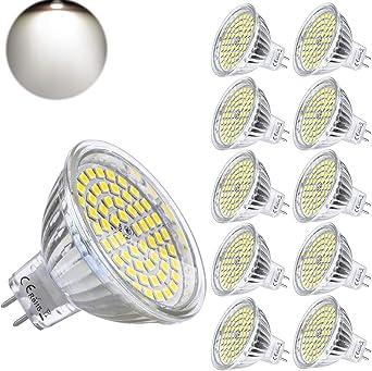 Yafido Mr16 Gu5 3 Led 12v Light Bulbs 5w Cool White Replace 35w