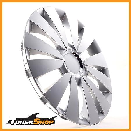 Tunershop 15 Zoll Radkappen Radzierblenden Radblenden Passend Für Hyundai Stahlfelgen 2432048 Silber Winter Sommer Auto