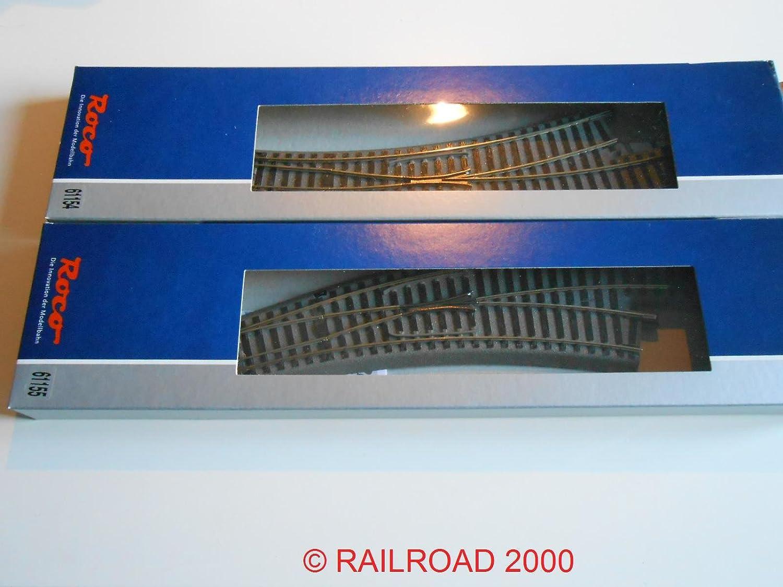 Roco Set 61154+61155, geoLINE Bogenweiche links und rechts R3/4