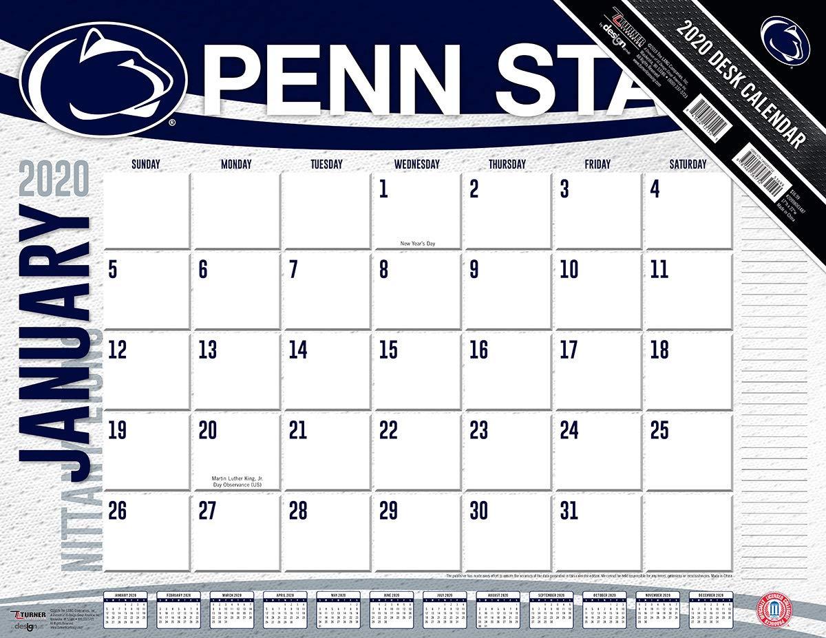 Penn State 2020 Calendar Amazon.: 2020 Penn State Nittany Lions Desk Pad, by Turner
