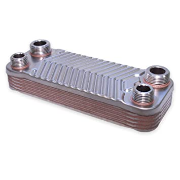 Hrale Intercambiador calor térmico acero inoxidable 10 placas Termocambiador placas máx. 22 kW