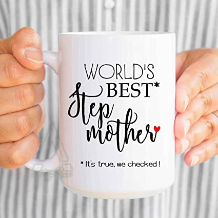 Funny Stepmom Birthday Gift QuotWorlds Best Stepmotherquot Coffee Mugs Christmas Gifts