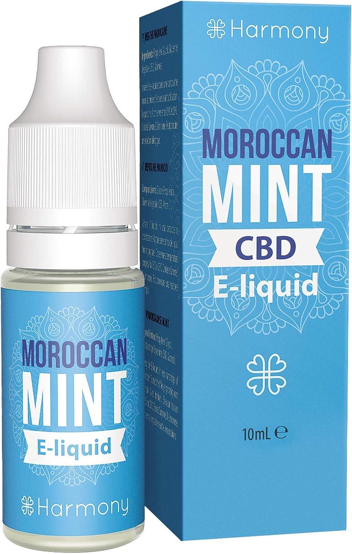 Harmony E-líquido de CBD (más de 99% pureza) - Moroccan Mint - 100 mg CBD en 10 ml - Sin Nicotina