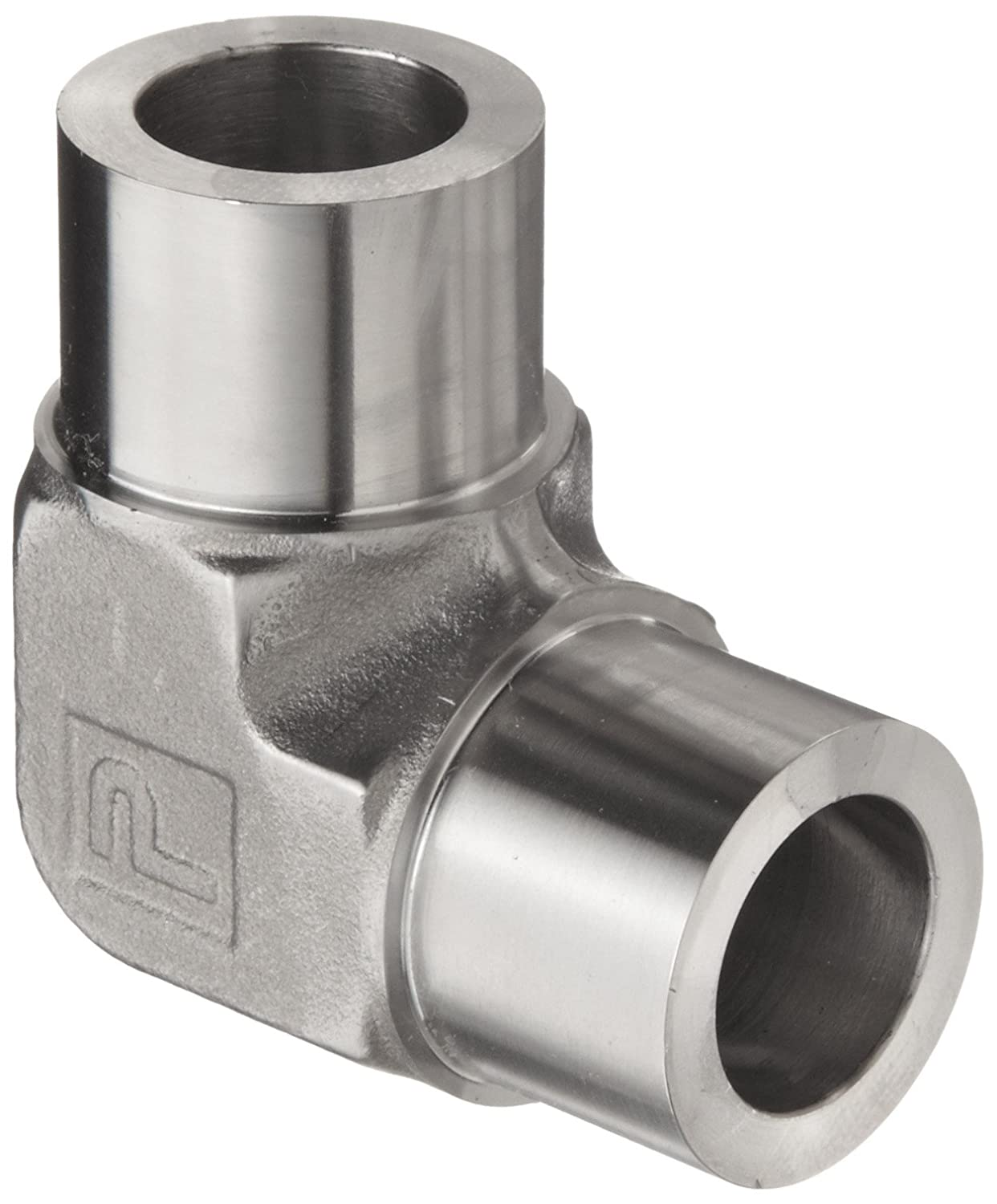 """New 1-1//4/"""" npt Forged Stainless Steel 90° Elbow Pipe Fitting 3000 psi 316 SS"""