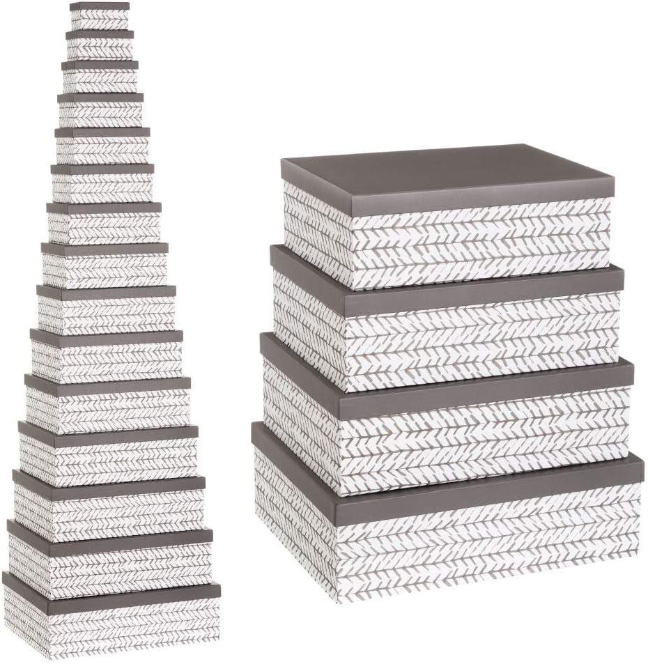 Cajas Grises de cartón Multiusos étnicas para decoración Factory - LOLAhome