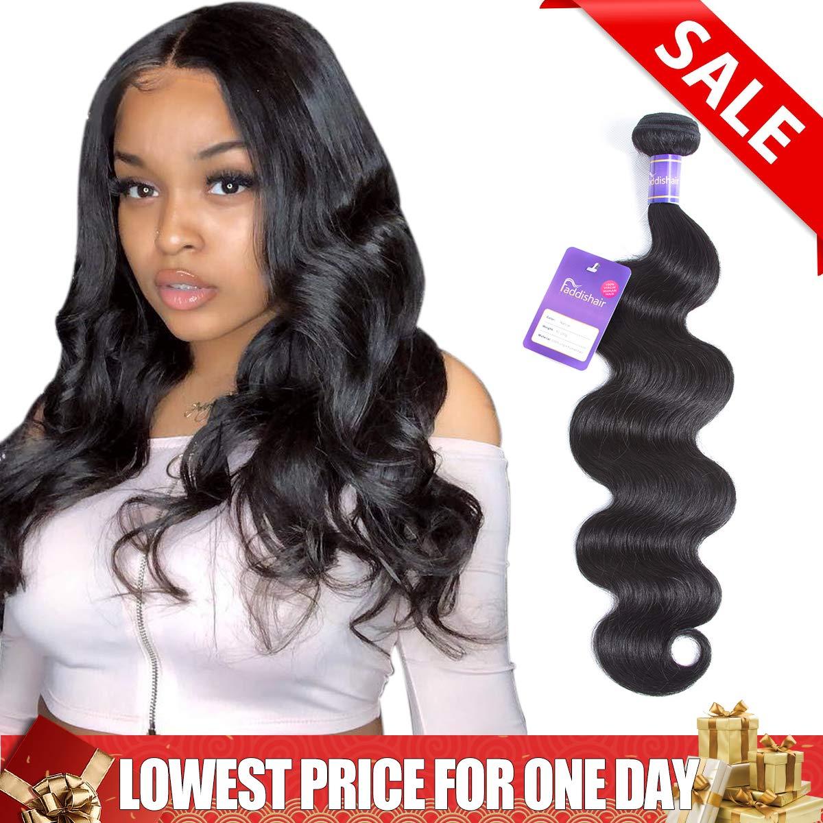 Faddishair Human Hair Bundles Body Wave One Bundles 12 Inch Brazilian  Virgin Hair 100% Unprocessed 9c2b4389553e