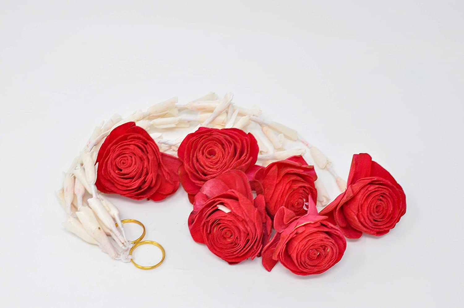 Desi Favors Lilly with Rose Garland for Diwali Decor
