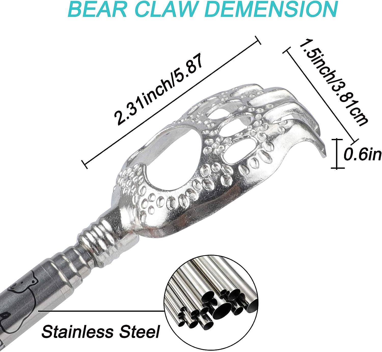 WOVTE Bear Claw Black Telescopic Back Scratcher: Health & Personal Care