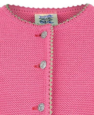 190fc3546b Isar-Trachten Isar-Trachten Strickjacke Amy für Mädchen - Pink -  Wunderschöne Trachtenjacke für Kinder zu Oktoberfest, Kirchweih oder  Ausflug Mädchen: ...