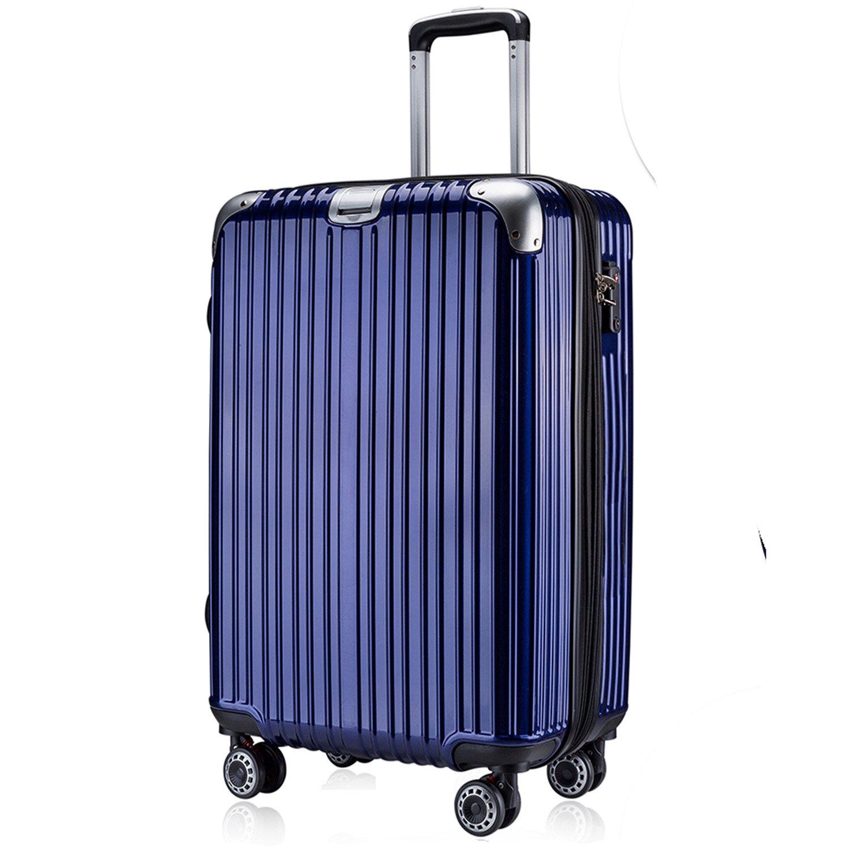 OTT スーツケース 超軽量 TSAロック搭載 Wファスナータイプ B077W7QN1K Lサイズ(7泊以上/5.4KG/93L)|ブルー ブルー Lサイズ(7泊以上/5.4KG/93L)