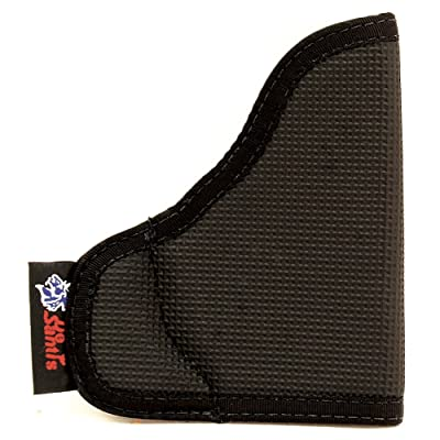 DESANTIS N38 The Nemesis Pocket Holster Ambidextrous Black P32/P3AT/LCP w/CT LG Nylon N38BJG5Z0