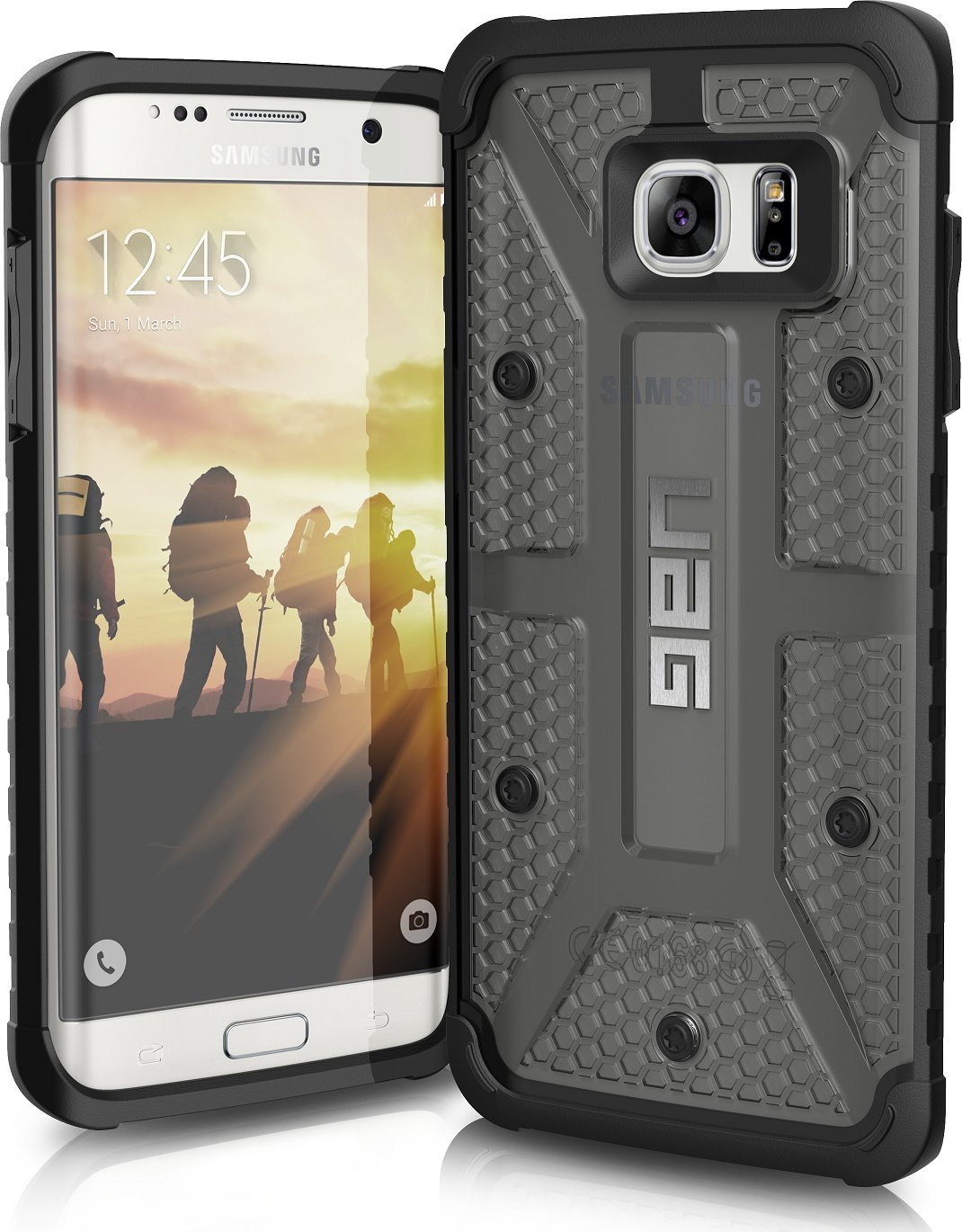 official photos ec6ba b8a0f UAG Samsung Galaxy S7 Edge [5.5-inch screen] Feather-Light Composite [ASH]  Military Drop Tested Phone Case