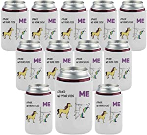 40th Birthday Gift Beer Coolie Beverage Can Coolers Funny Party Decoration Gifts - OTHER 40 YEAR OLDS - ME (12 Pack)